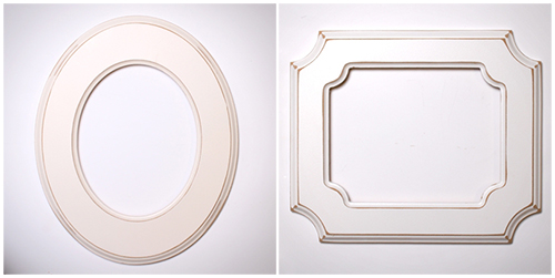 Oval and REctangle Frame diptych