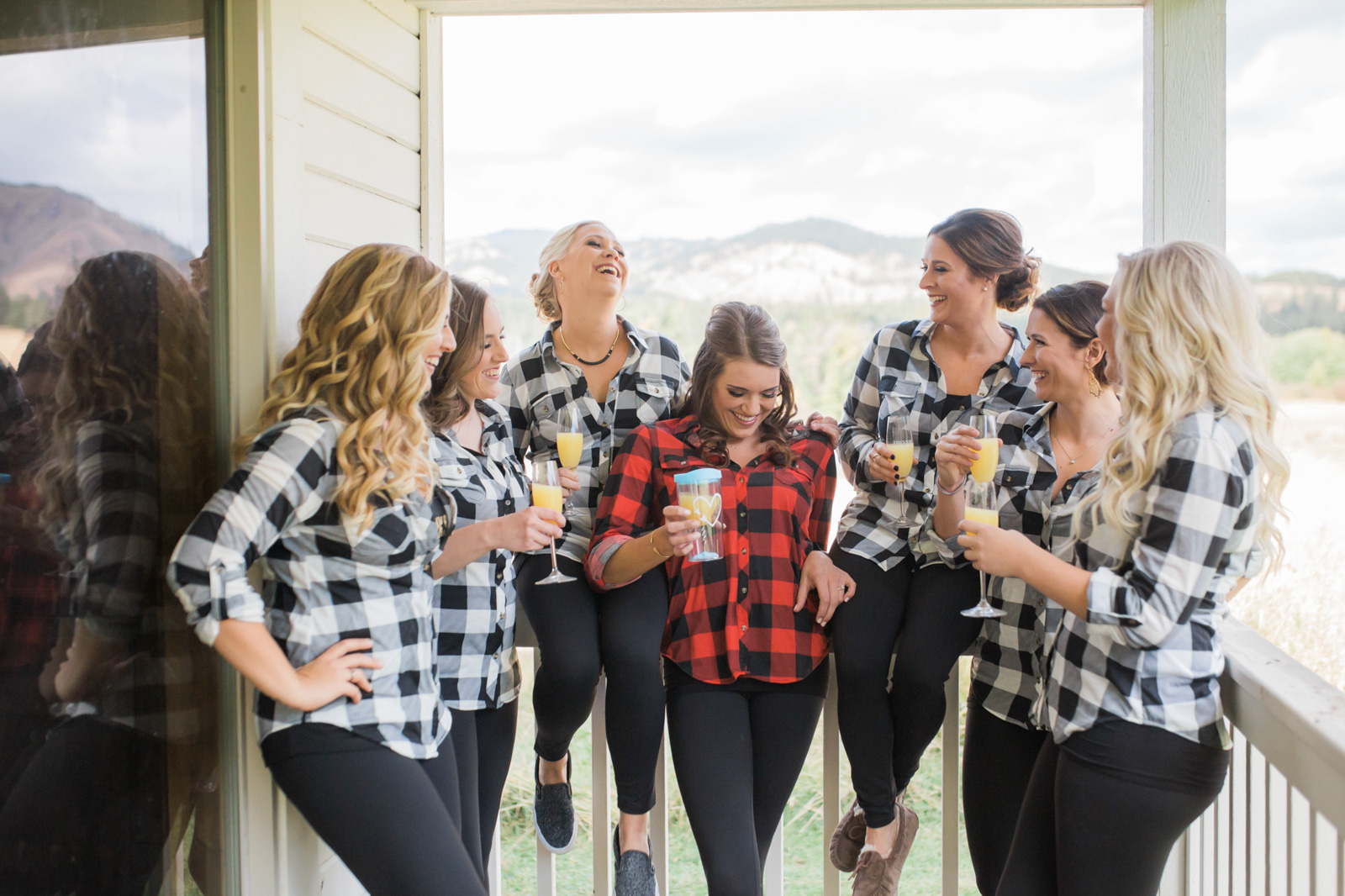 Weddings and Engagements -20 - Washington Cle Elum The Cattle Barn Bridesmaids Photographer
