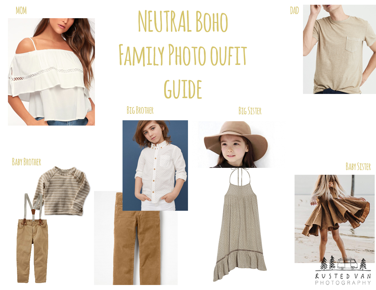 nuetral family outfits
