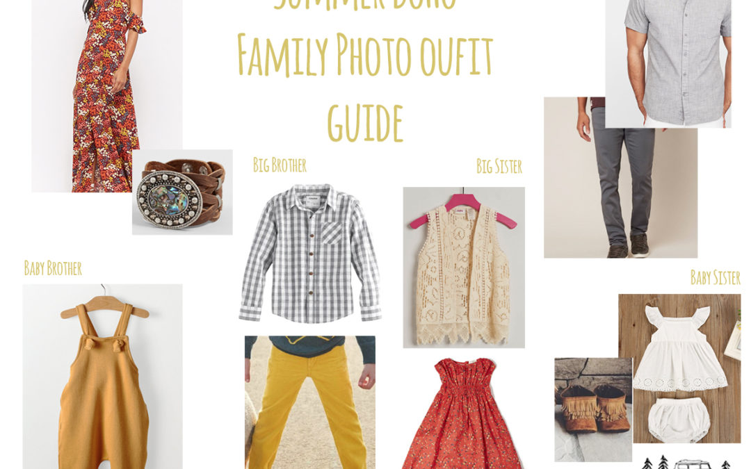 Bohemian Family Outfits for Summer Photos!